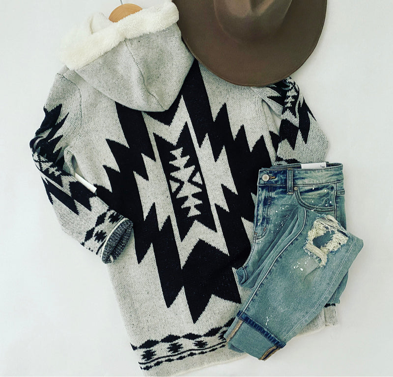 Wild White Horse Cardigan (lined)