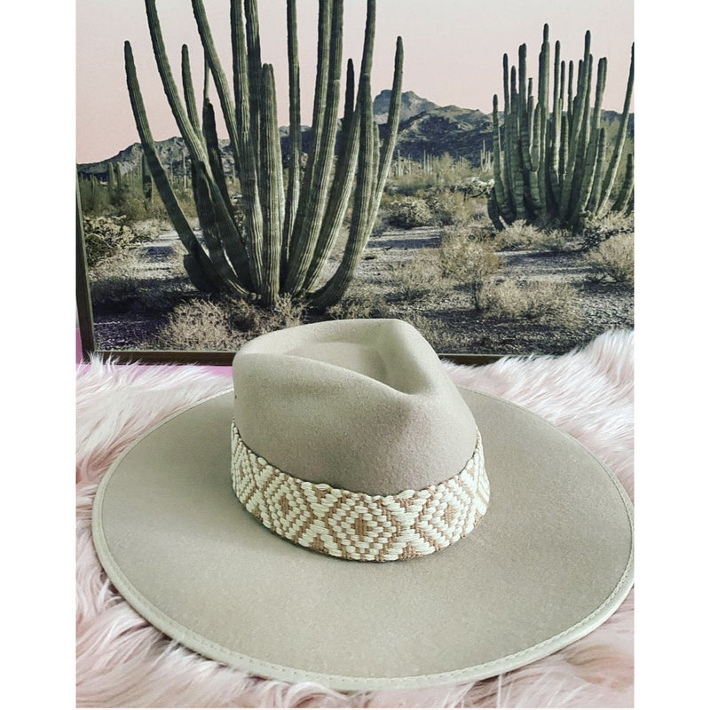 Rebel Child Hat (Beige - Embellished Hat Band)