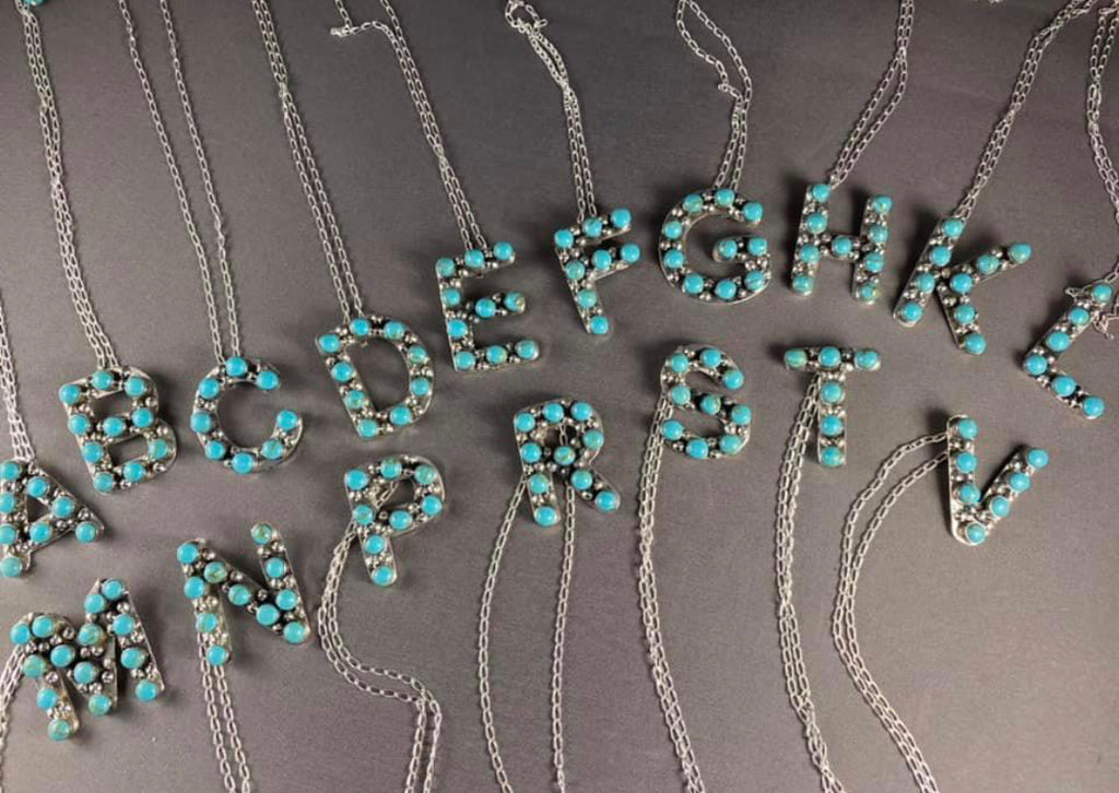 Turquoise Letters
