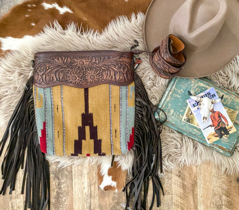 The Brown Mountains  Saddle Blanket Purse (brown)