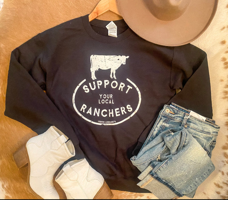 Support Your Ranchers Crew Neck Sweatshirt
