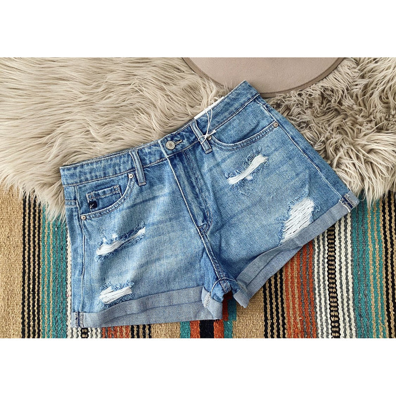 Daddies Girl Distressed Shorts (cuff)