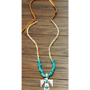 Thunderbird Beaded Suede Necklace