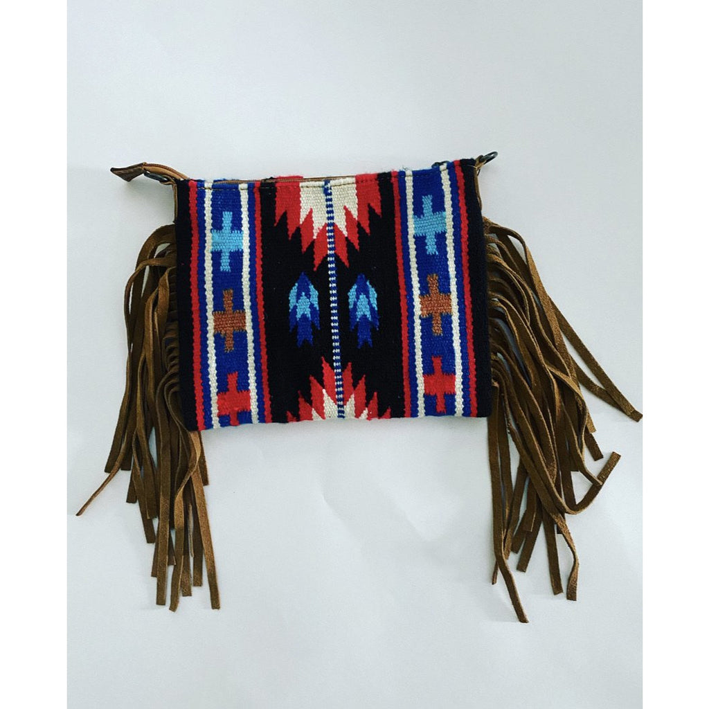Cowgirl Saddle Blanket Purse (navy)