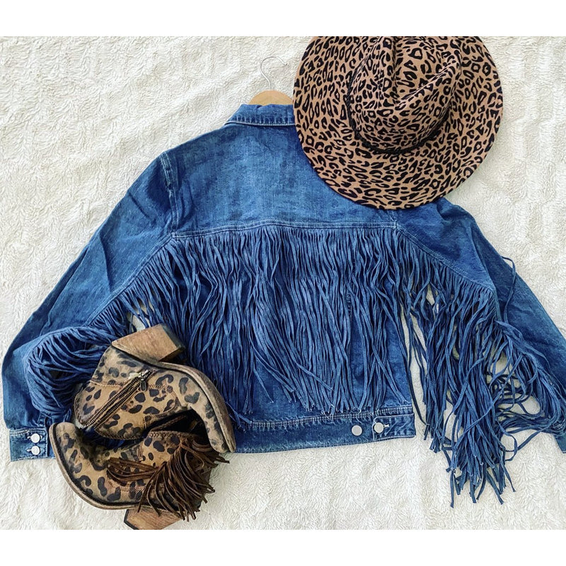 Denim On Denim Life Fringe - Denim Jacket