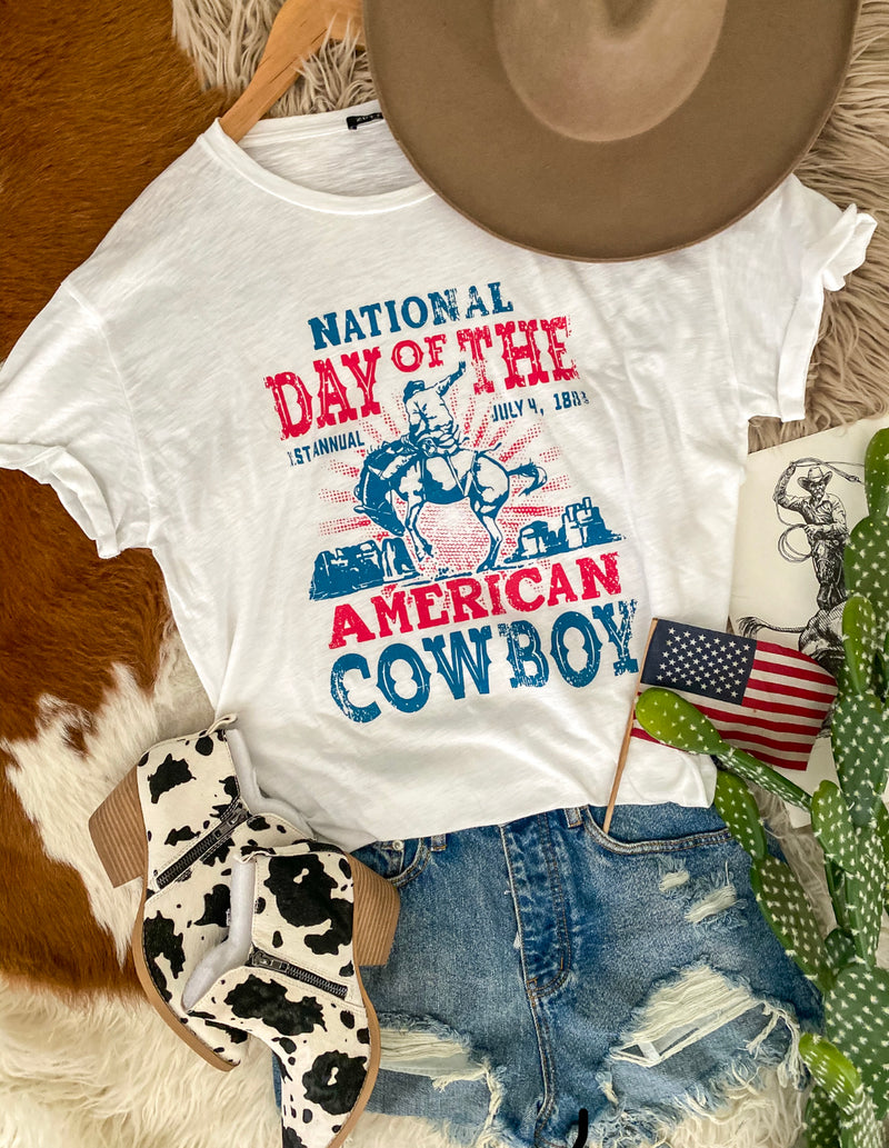 National Day Of Cowboy Tee (white)