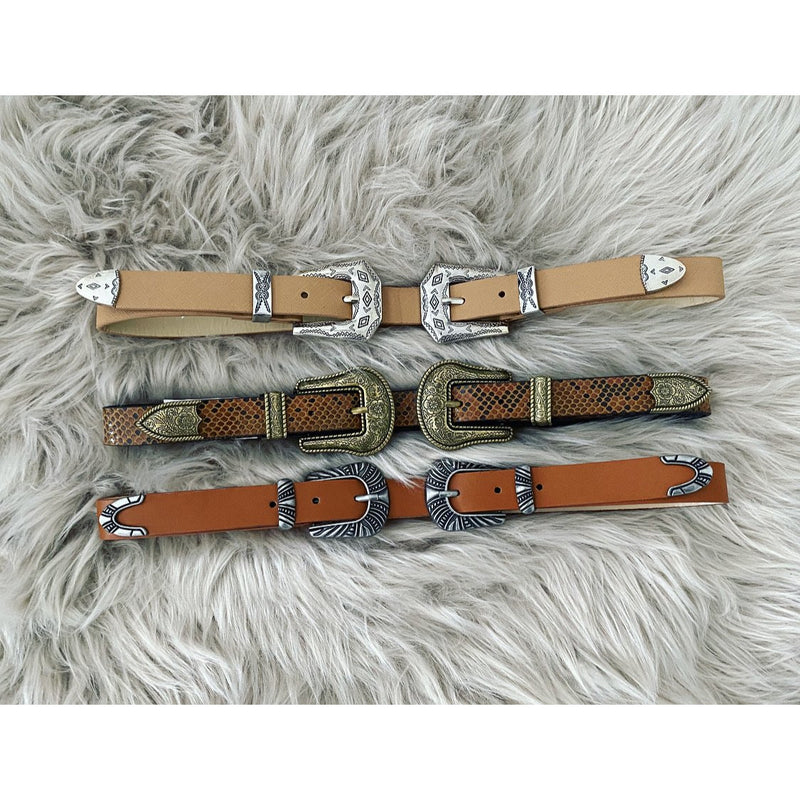Double Buckle Belts