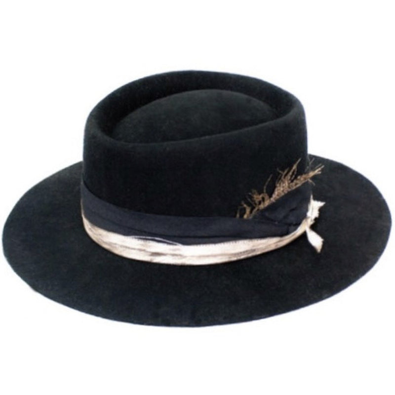Show Stopper Black Wool Hat
