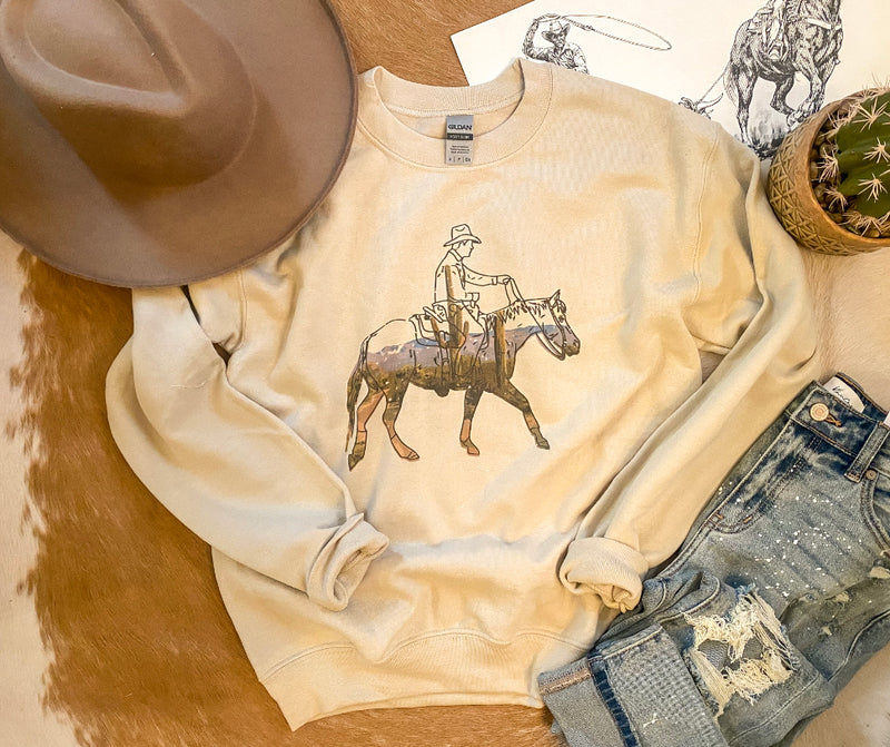 The Cowboy Rides Sweatshirt