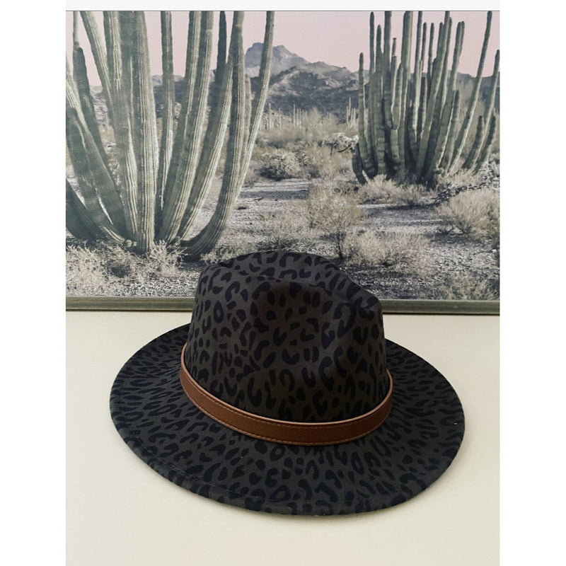 That Girl Hat (leopard olive)
