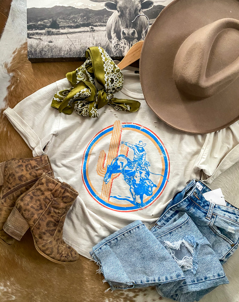 Cowboy Cowboy Distressed Tee (cream)