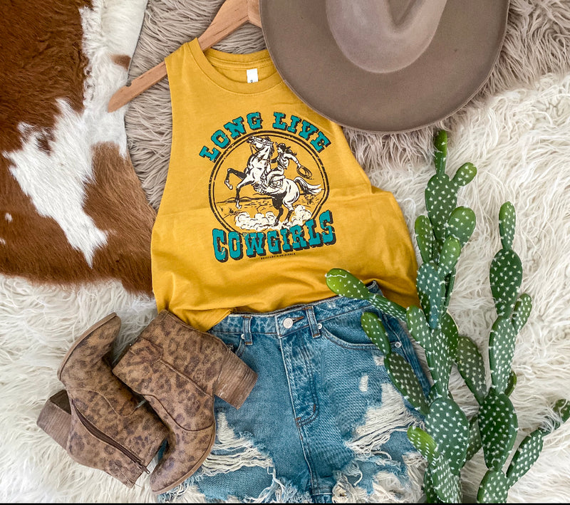 Long Live Cowgirls Cropped Tank