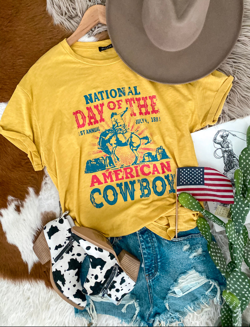 National Day Of Cowboy Tee (yellow)