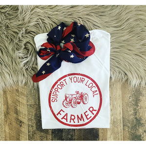 Support Your Local Farmers Tee (Red)