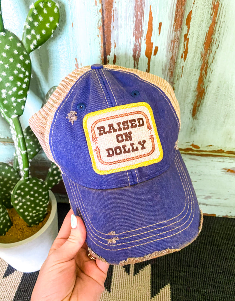 Raised On Dolly Hat ( Denim)
