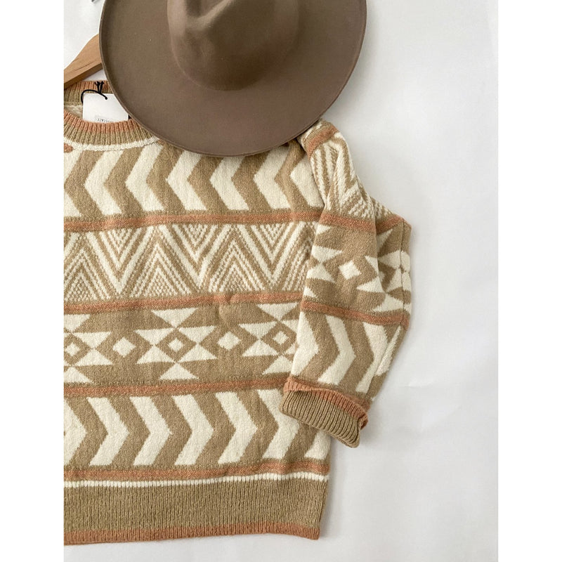 Remix Aztec Sweater ((peachy))