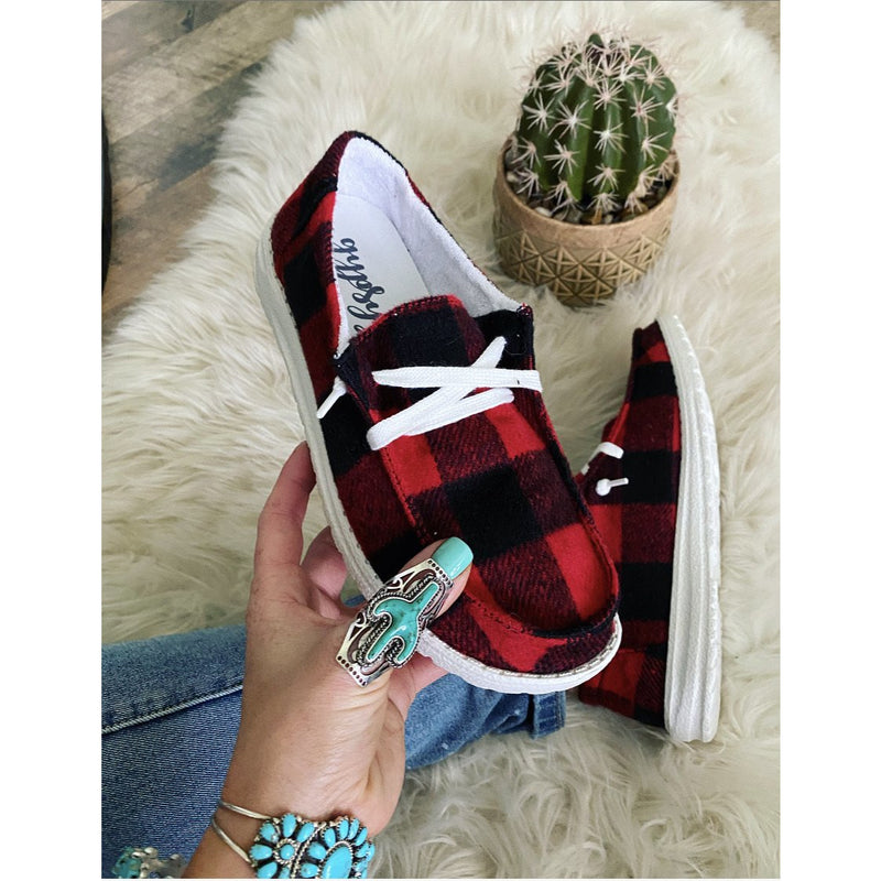 Eye Of The Buffalo (Buffalo Plaid) Sneakers