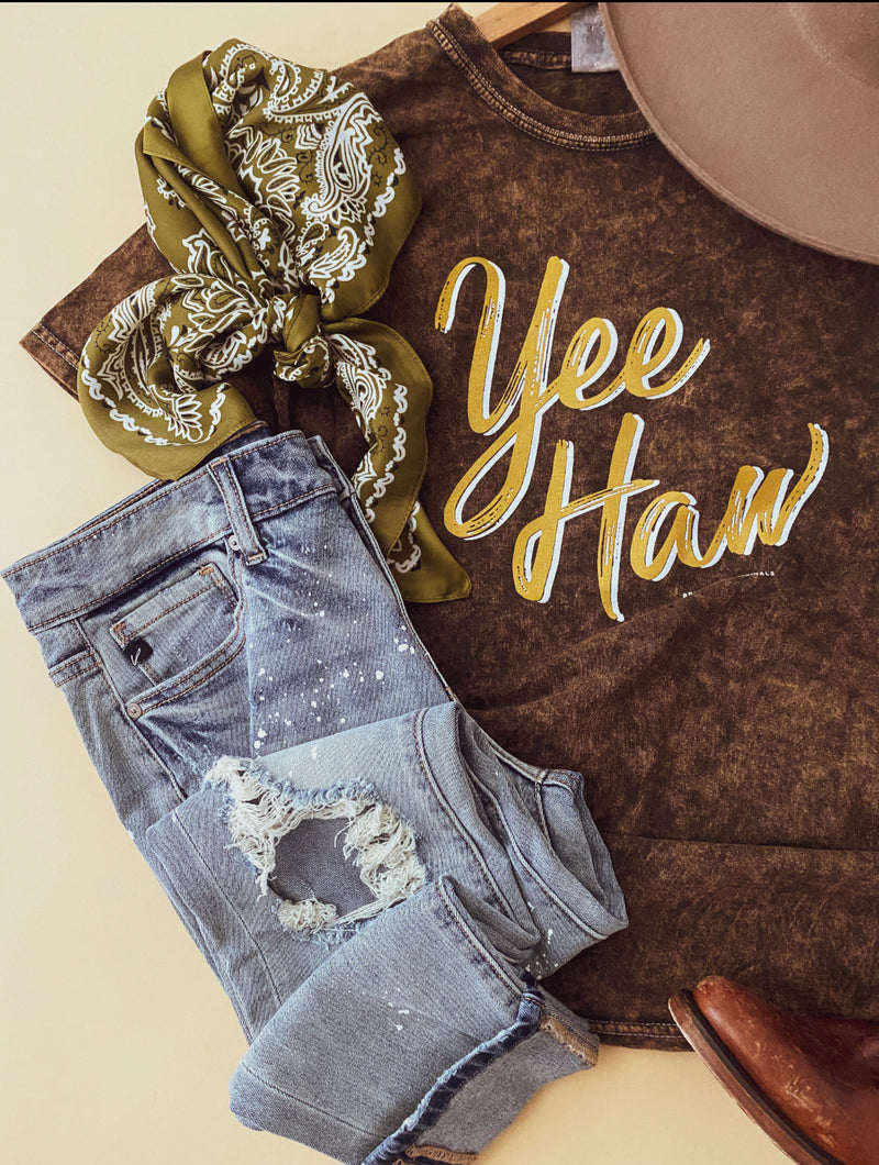 Yeehaw Tee (BROWN)