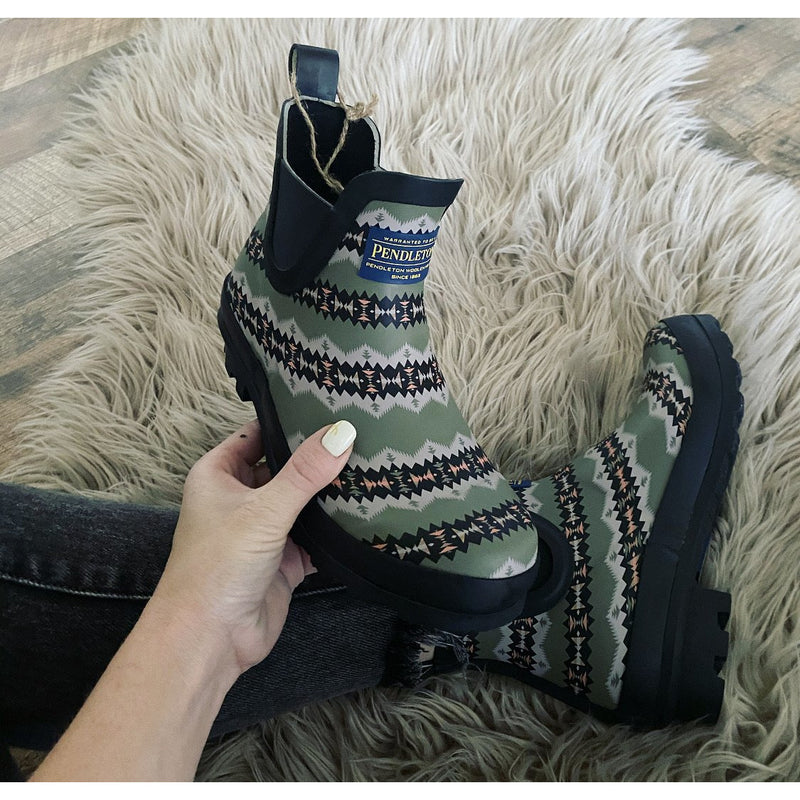 Y'all Southwest Pendleton Rain boots (green)