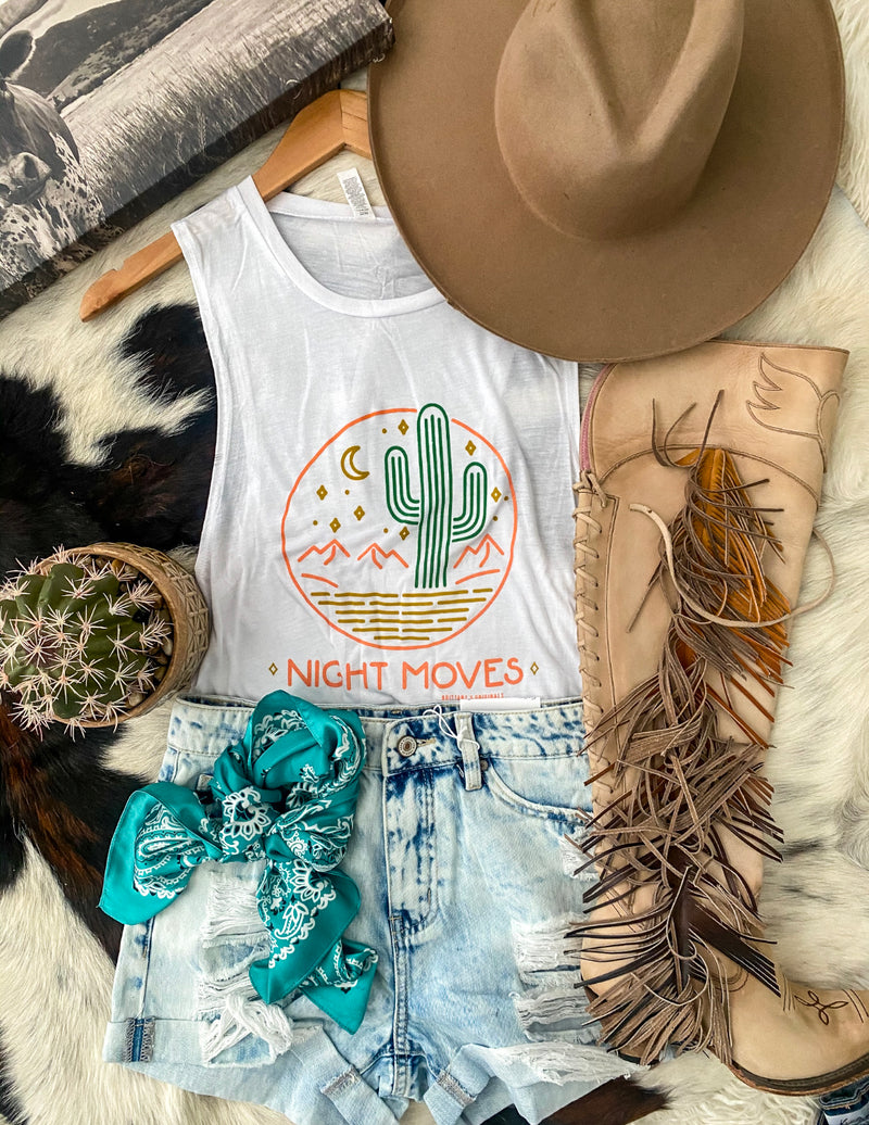 Night Moves Desert Cactus Muscle Tank