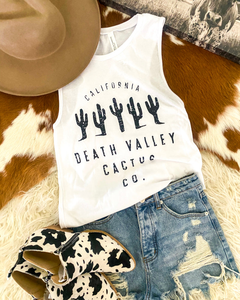 Death Valley Cactus Co. Tank (white)