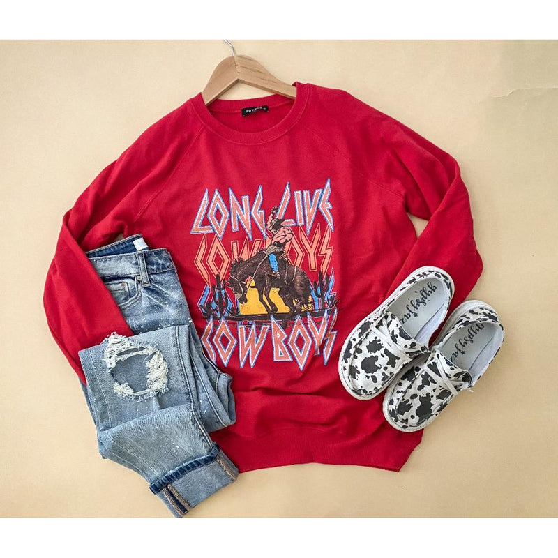 Long Live Cowboys Sweatshirt (red)