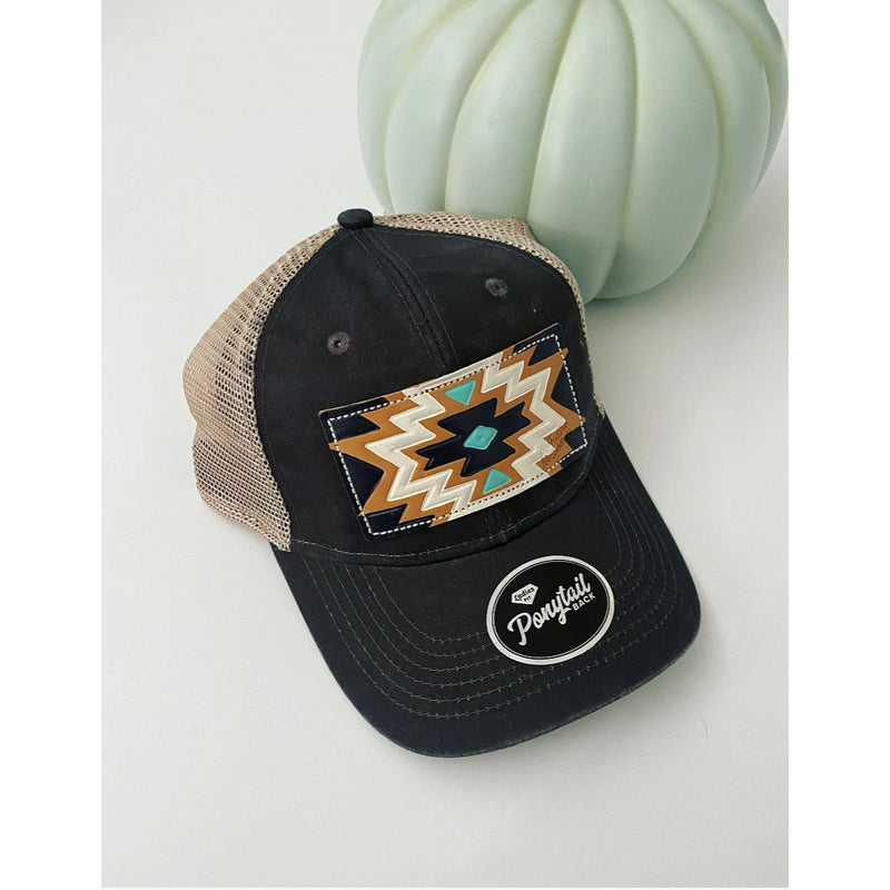 M. Aztec Hat (pony tail)