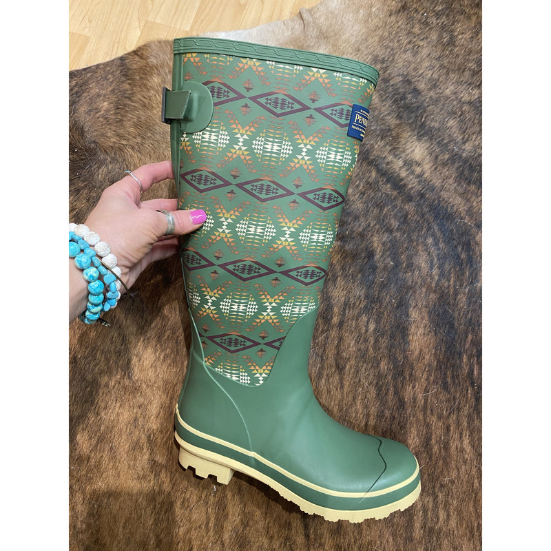 Tall y'all Southwest Pendleton Rain boots