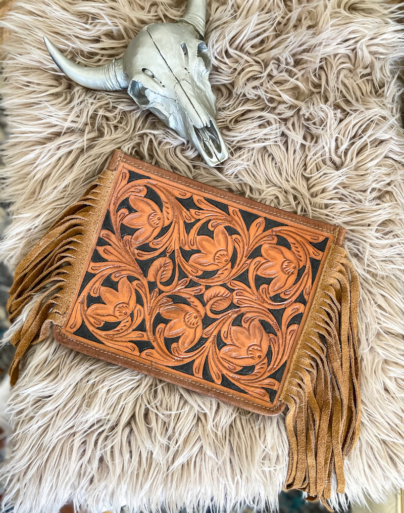 Tooled Leather Darling Purse