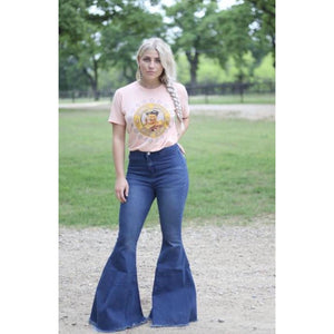 Highwaist Denim Flares