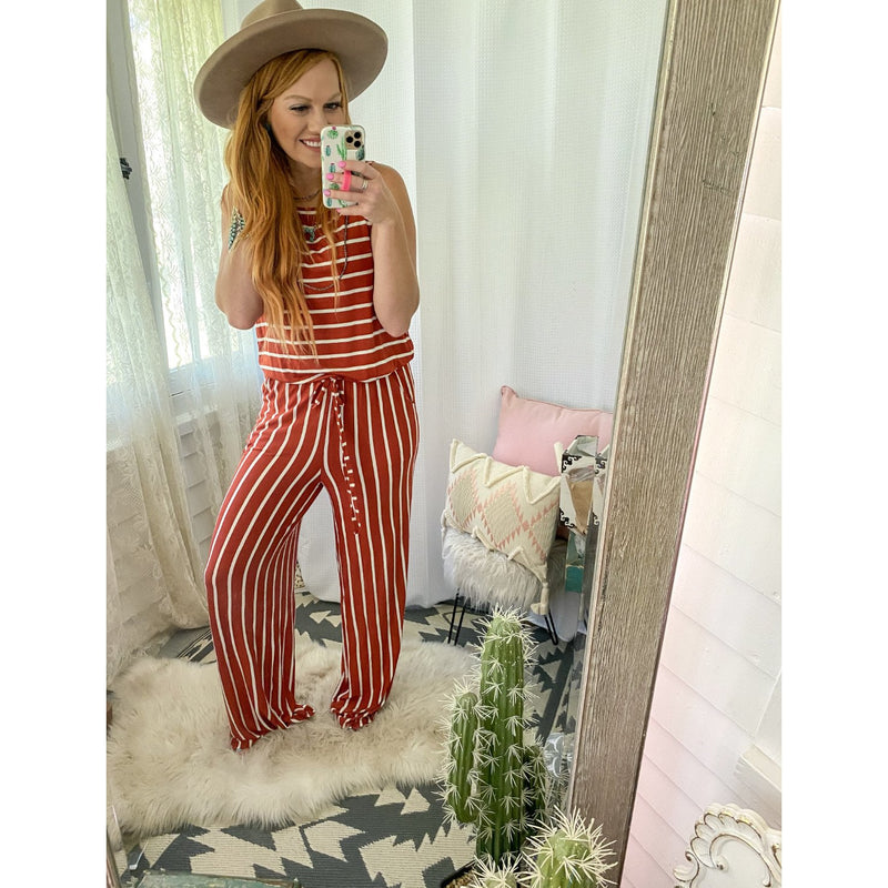 Stripes Of My Life Jumpsuit (Copper)