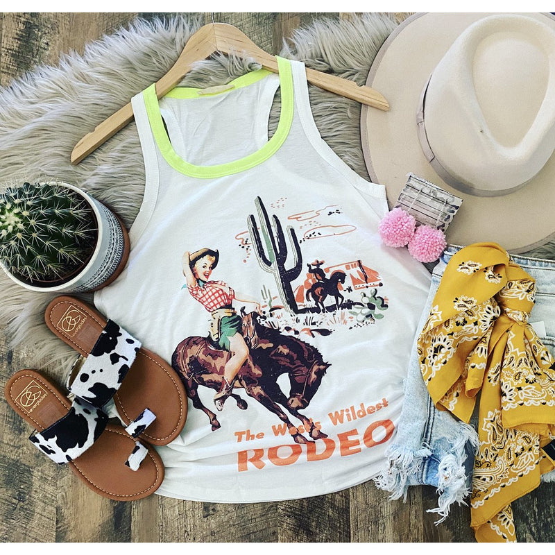 Wild Rodeo Retro Tank (lime)