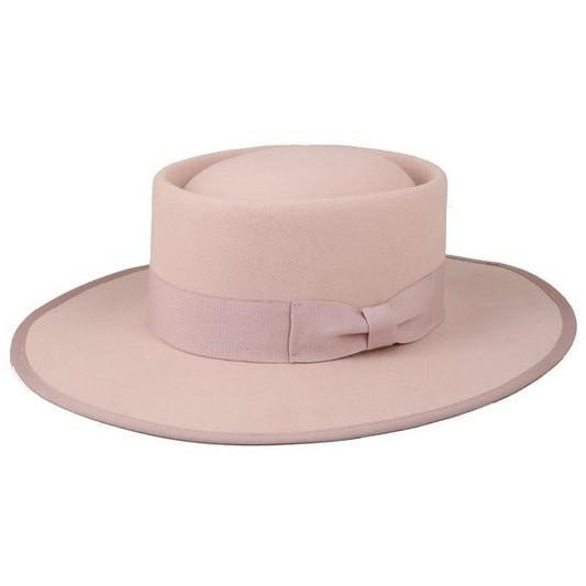 Say When  Wool Hat (blush/tan)