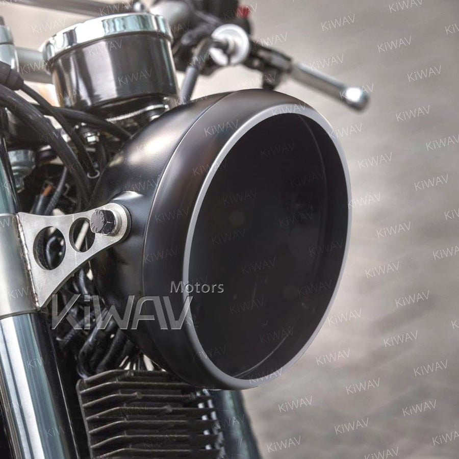 5 3 4 Inch Side Mount Motorcycle Headlight Bucket Scrambler Style With Drainage Hole