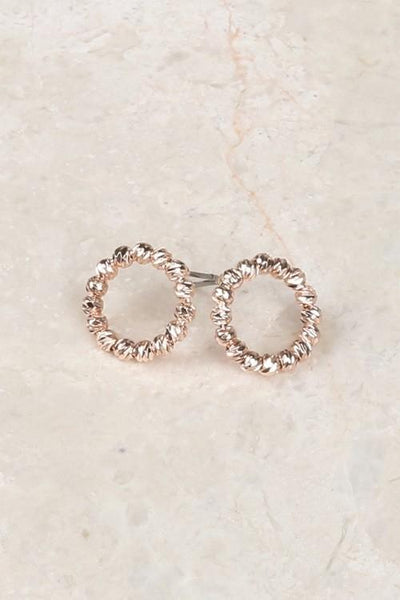 Textured Circle Post Studs