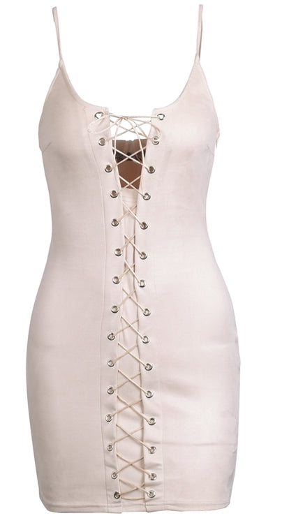 Ashley Lace Up Dress