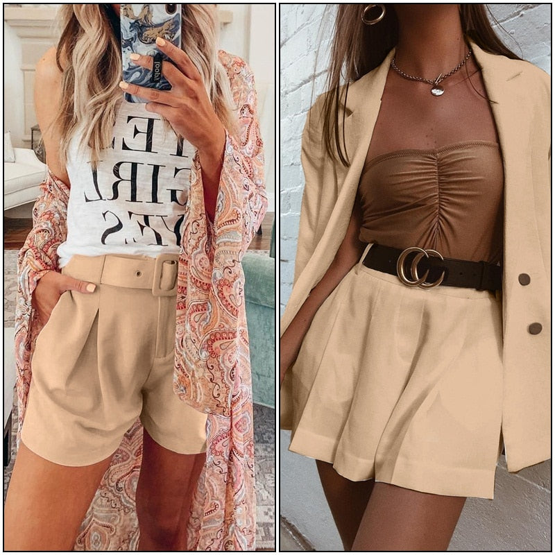 Two-piece Shorts Suit Set