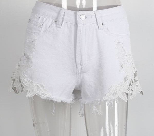 Ripped Detail Shorts