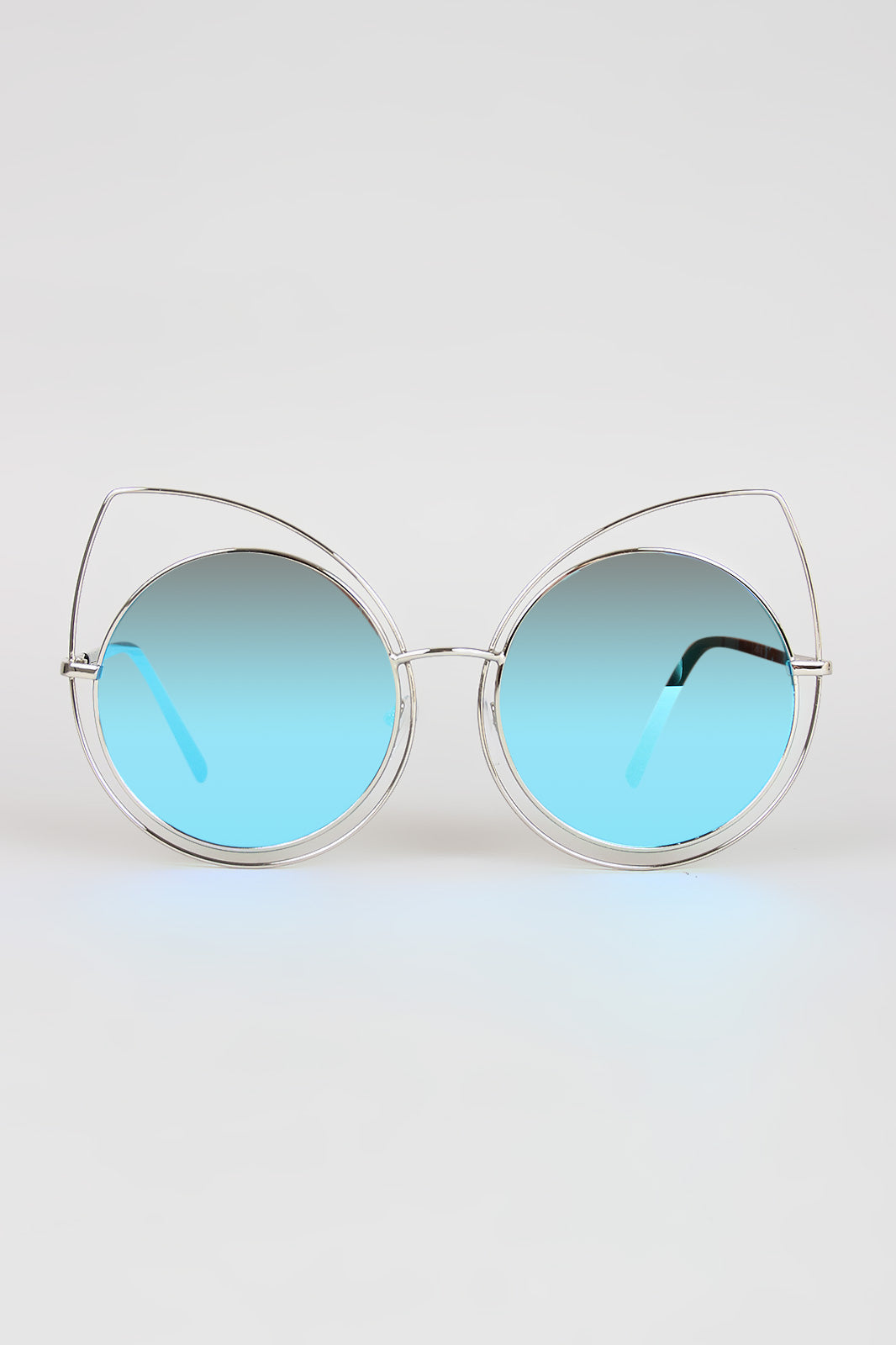 Wire Frame Cat Eye Mirrored Sunglasses – Wrexil