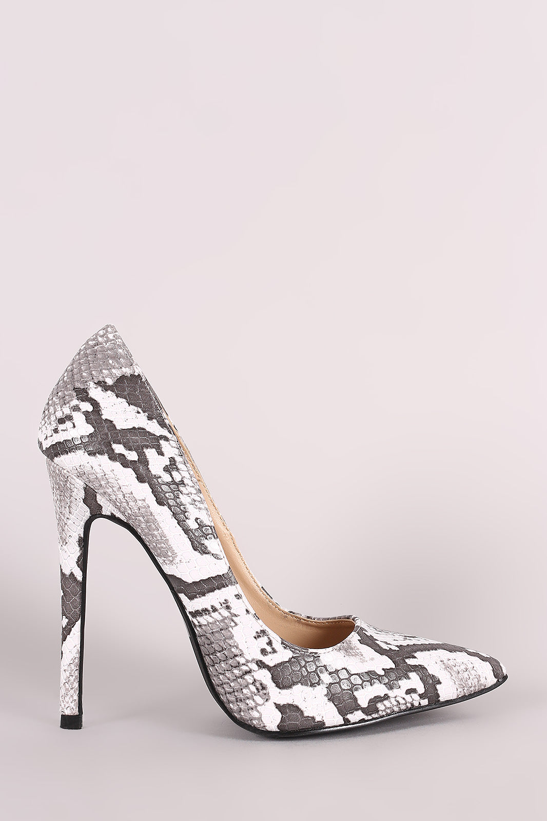 Shoe Republic LA Snakeskin Pointy Toe Stiletto Pump