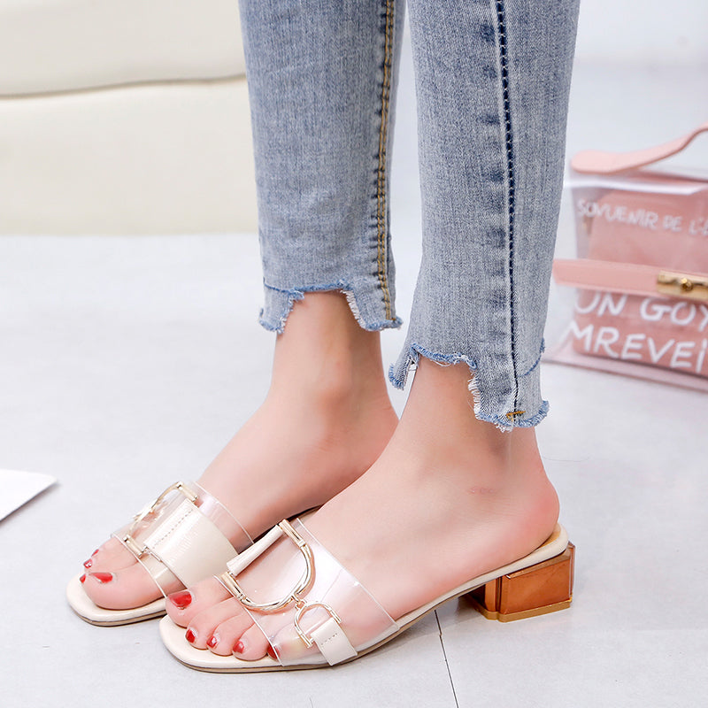 Transparent Slippers Mules