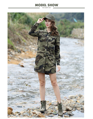 Camouflage Long Shirt Jacket