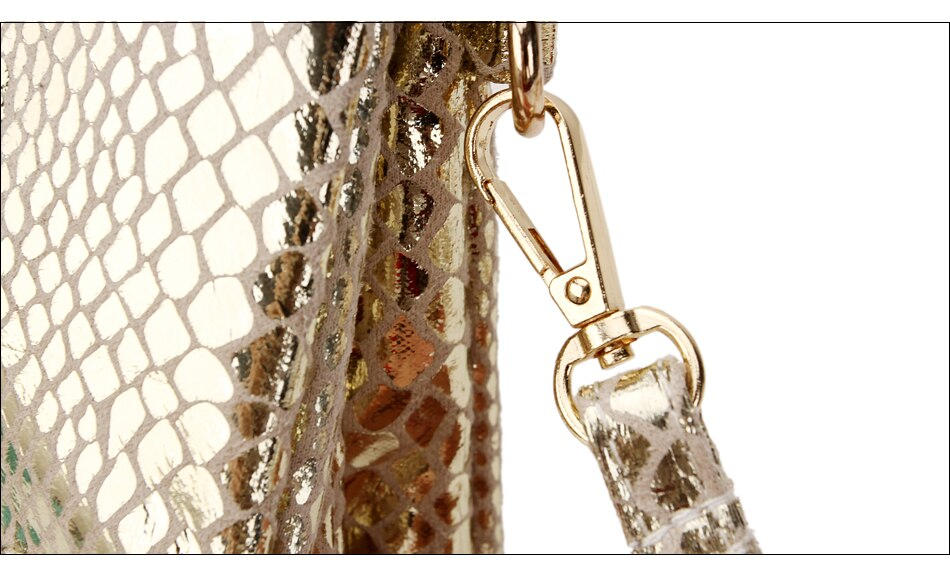 Gold Snakeskin Crossbody Bag