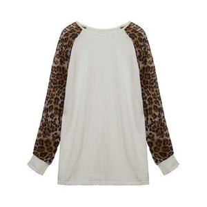 Leopard Sleeve T-shirt