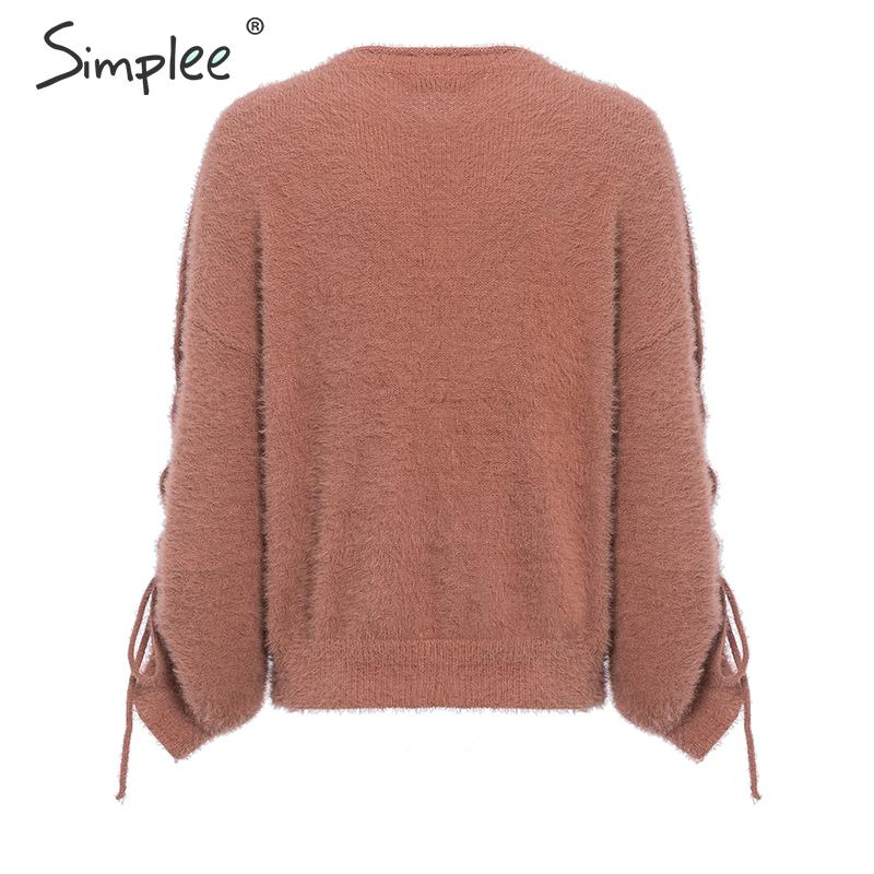 O-neck Soft Mohair Pullover Sweater