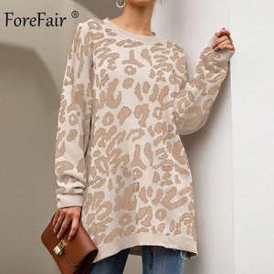 Long Leopard Sweater