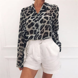 Sexy Leopard Print Blouse