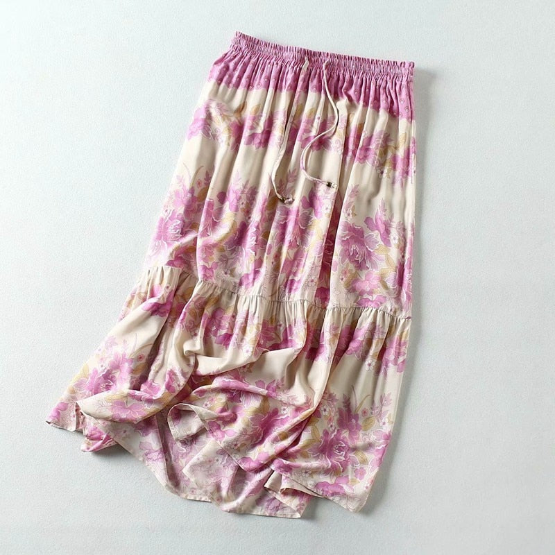 Boho Print Summer Gypsy Skirt