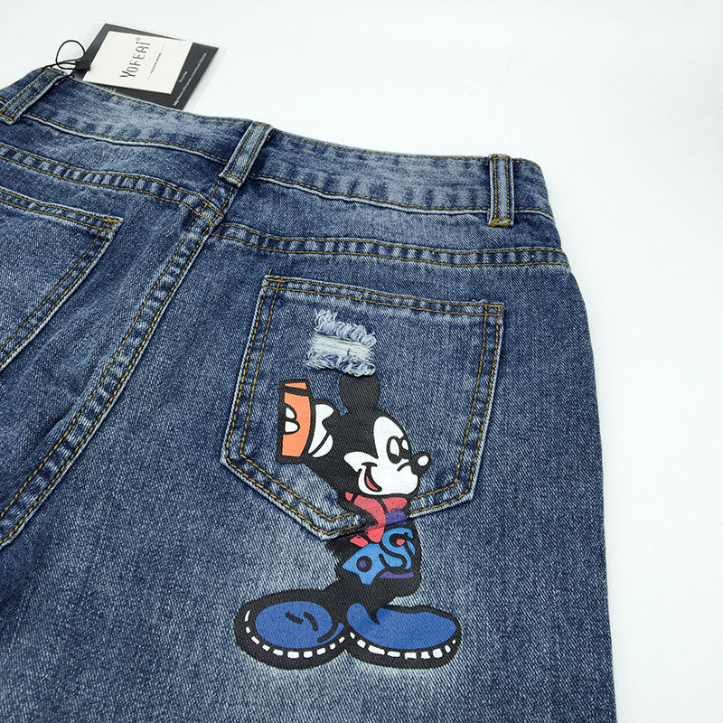 Mickey Print Denim