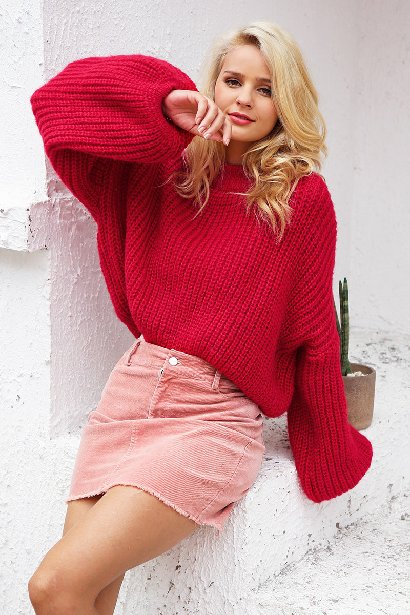 Lantern Sleeve Pullover Sweater